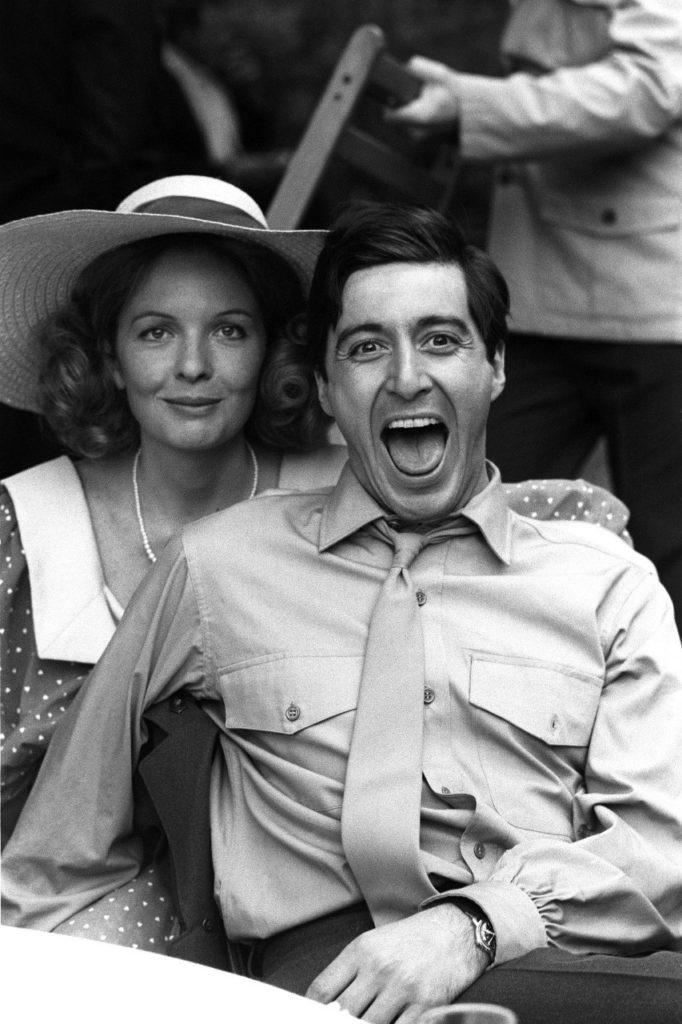 Аль Пачино с Дайаной Китон на съемках «Крестного отца», 1972 год