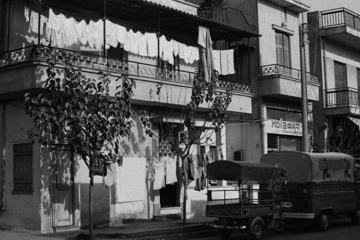 Сцены Афинской улицы, Греция, 1974 год.