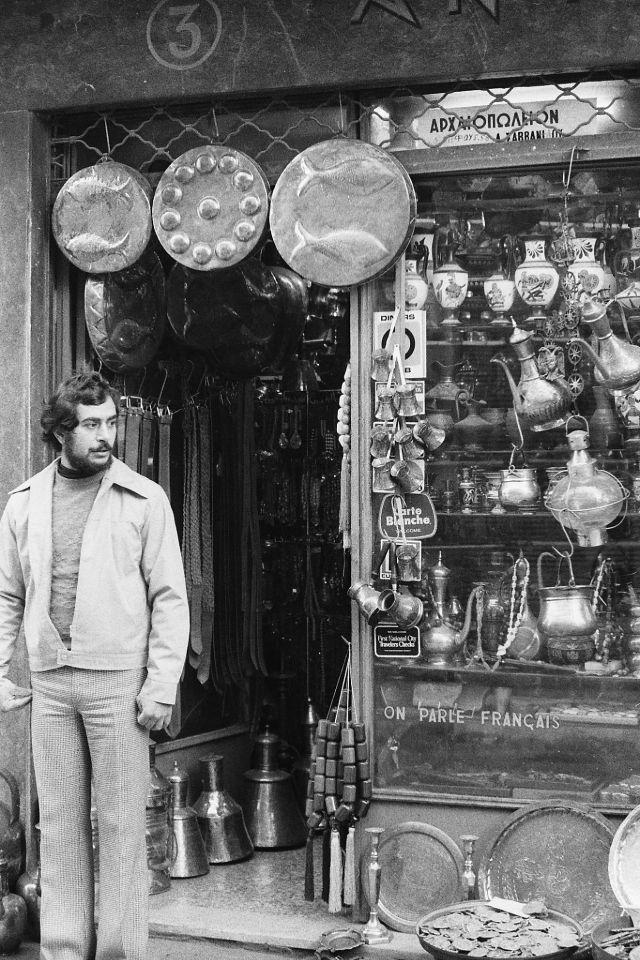 Блошиный рынок, Афины, Греция, 1974 год.