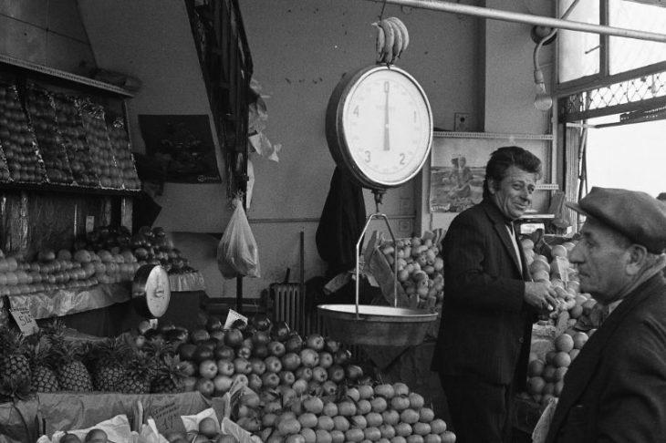 Фруктовый рынок, Афины, Греция, 1974 год.