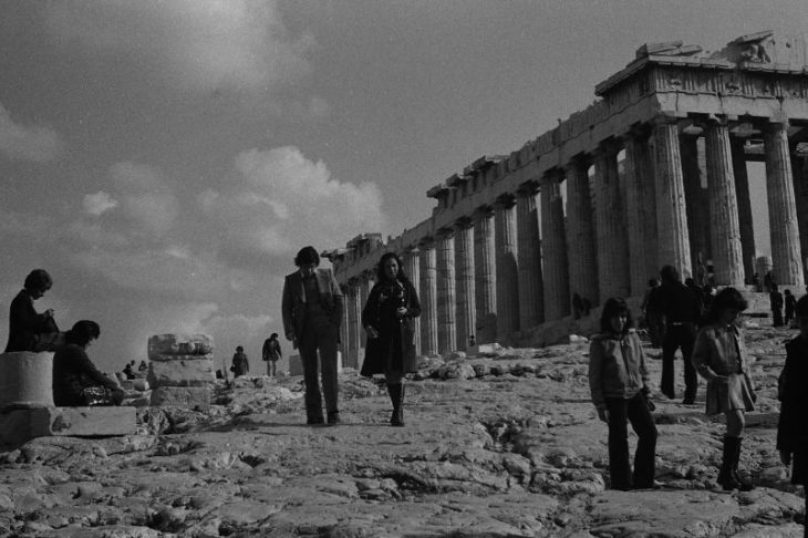 Парфенон, Афины, Греция, 1974 год.