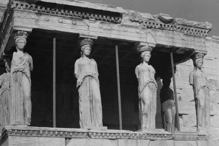 Акрополь, Афины, Греция, 1974 год.
