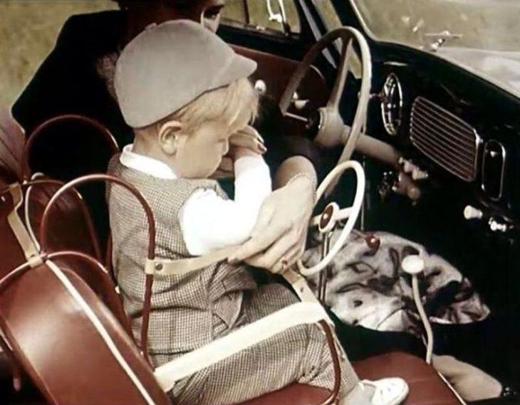 Детские автокресла середины XX века