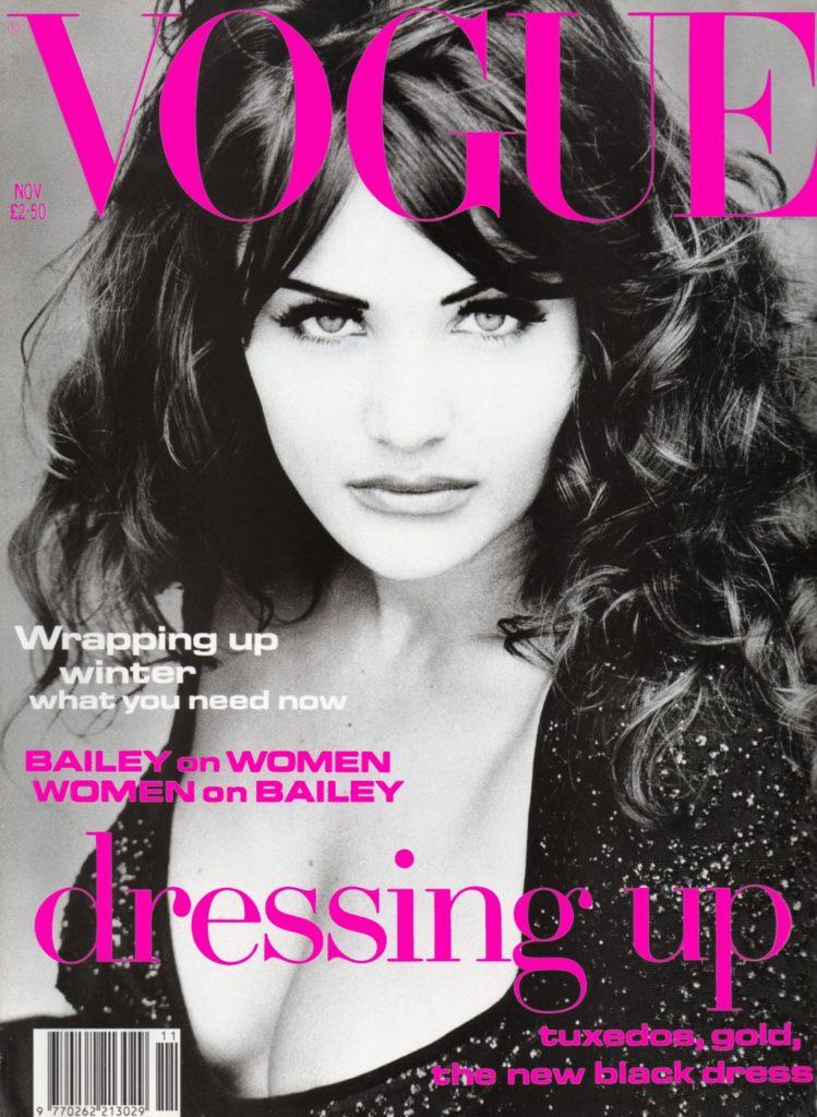 На обложке Vogue UK, ноябрь 1992 года.