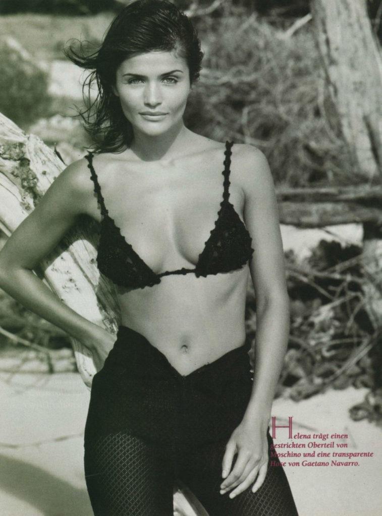 Хелена Кристенсен, 1990-е годы.