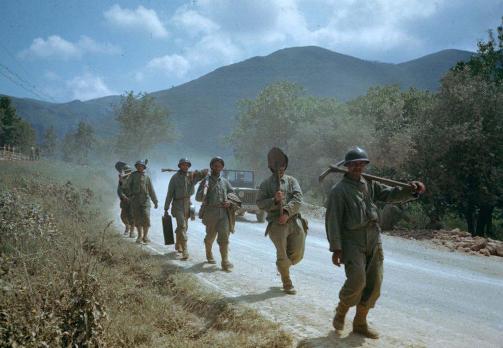 Американские солдаты в долине Лири, Итальянская кампания, Вторая мировая война 1944 год.