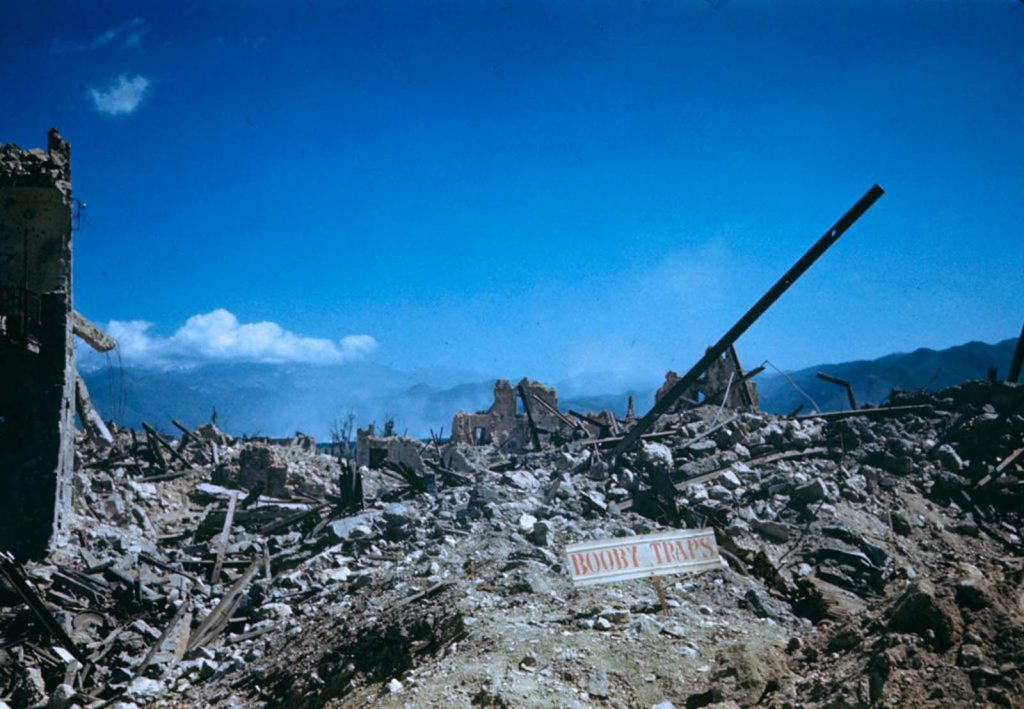 Руины, долина Рапидо, Итальянская кампания, Вторая мировая война 1944 год.
