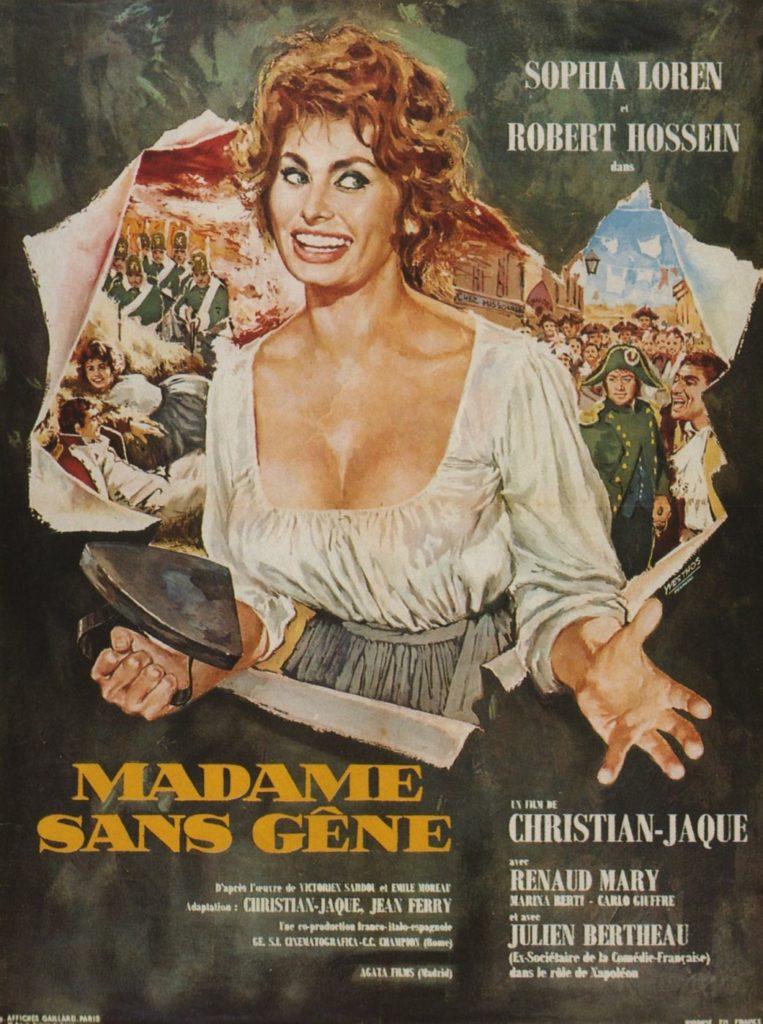 "Постер ""Мадам Сан-Жен"" с Софи Лорен на обложке, 1961 год."