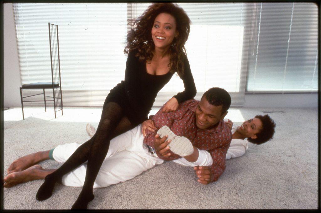 Тайсон и его жена Робин Гивенс, Лос-Анджелес, Калифорния, США, май 1988 года.