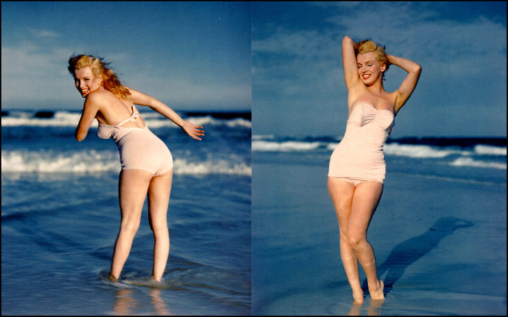 Мэрилин Монро на пляже, 1957 год