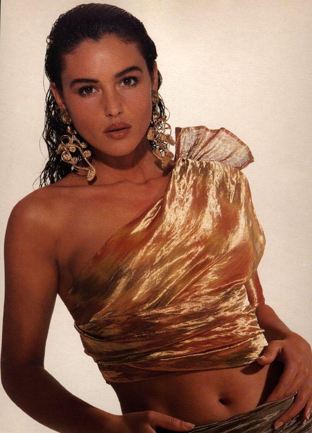 Молодая Моника Беллуччи, 1980-е годы.