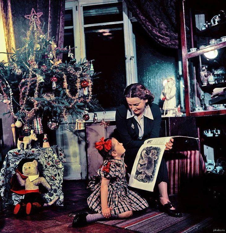 Новый год, елка в доме, СССР.