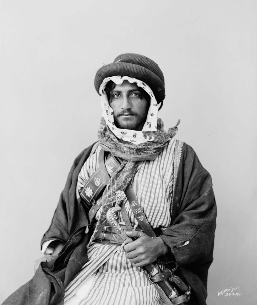 Бедуины были традиционно разделены на родственные племена, 1898 год.