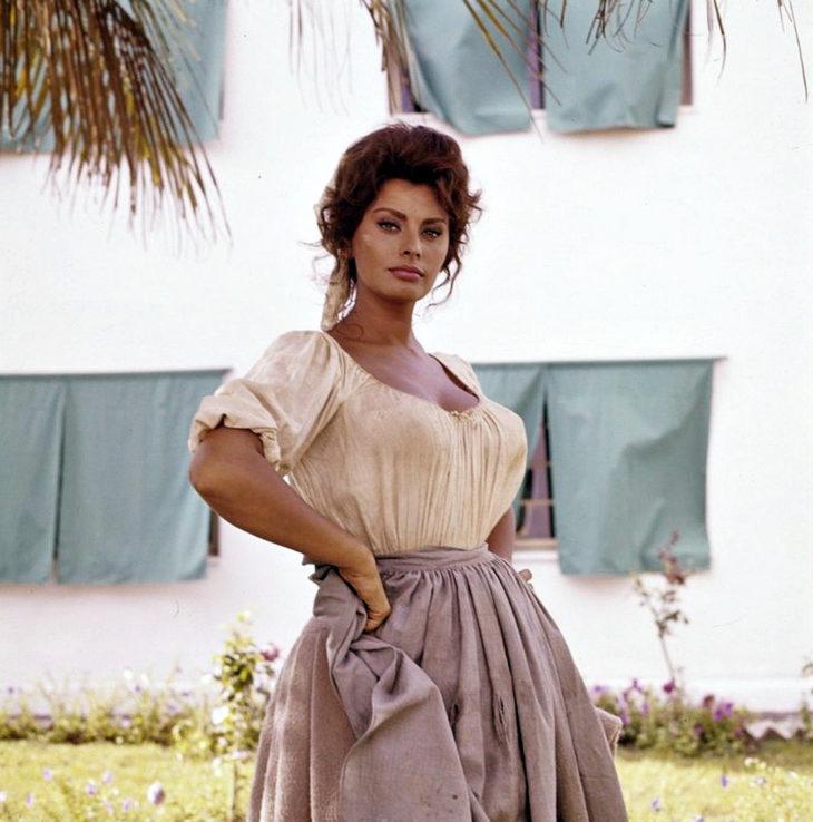 "Софи Лорен на съемках ""Мадам Сан-Жен"", 1961"
