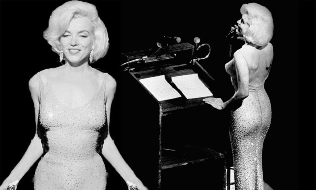 """Мэрилин Монро в том самом """"голом"""" платье на юбилее президента."""
