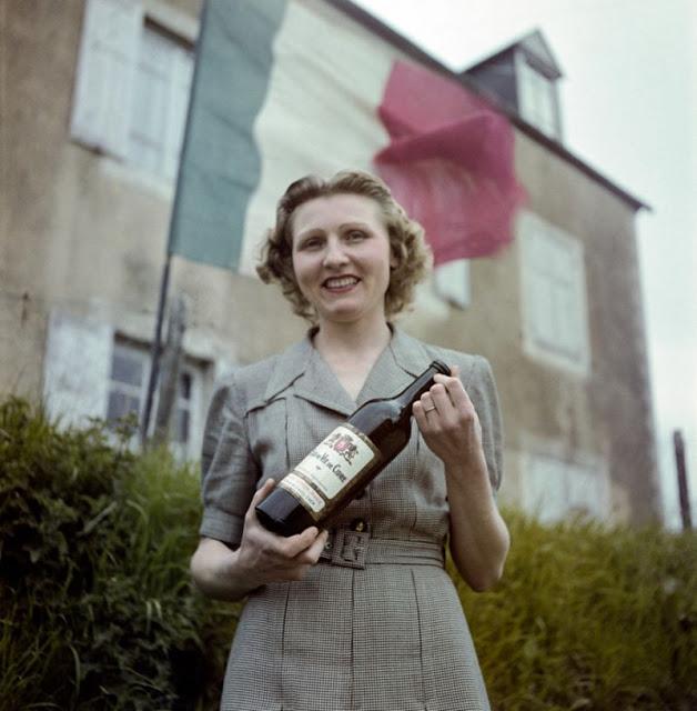 Цветные фотографии Нормандии после Второй мировой Войны