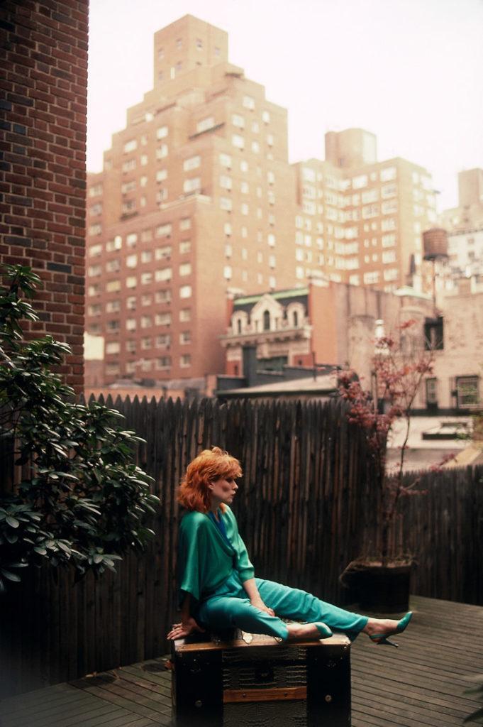 Дебби Харри, фотосессия на заднем дворе, Нью-Йорк, 1983 год.