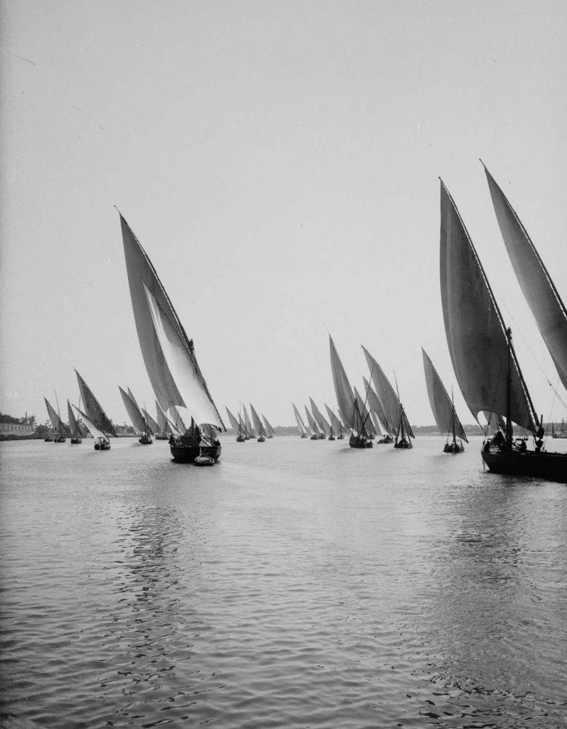 Лодки на реке Нил. 1900 год. Источник: Library of Congress