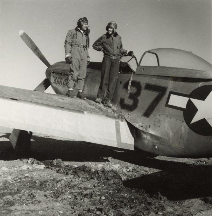 Летчики в Рамителли, Италия, март 1945 года.