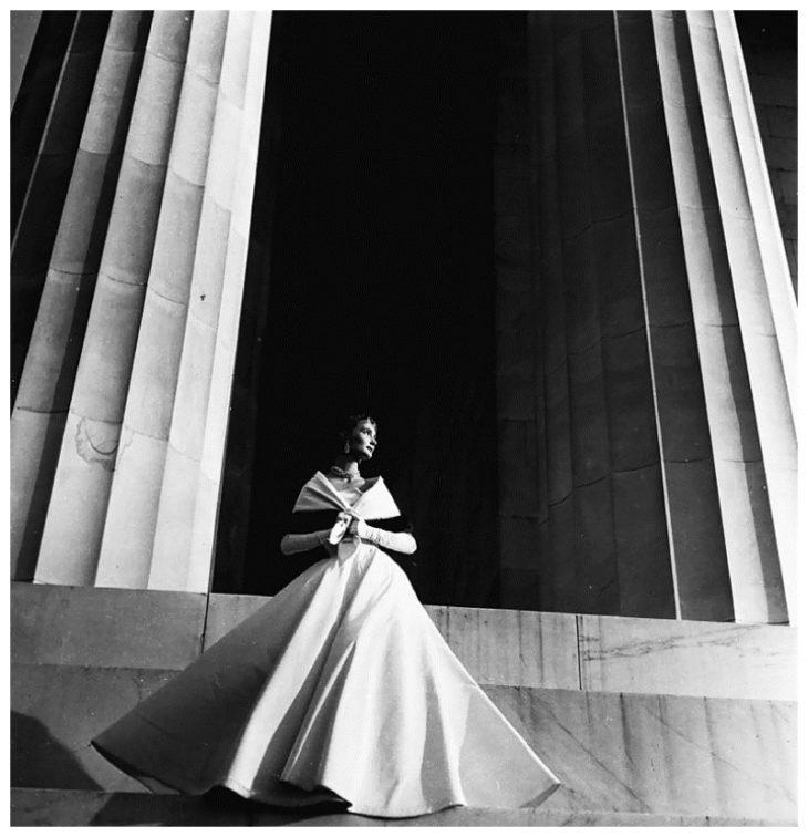 Модная съемка, Вашингтон, округ Колумбия, 1949 год. Фотограф Тони Фрисселл
