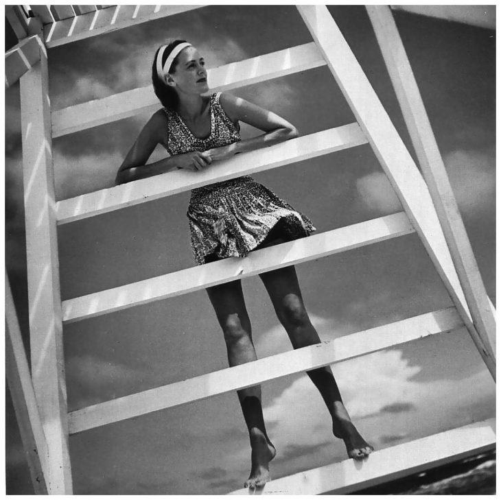 Модная съемка, 1946 год. Фотограф Тони Фрисселл