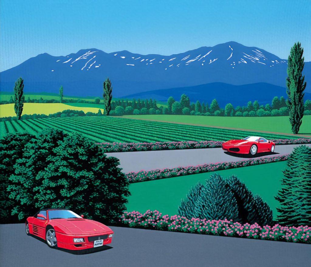 Хироси Нагаи - Ferrari traversing the lands