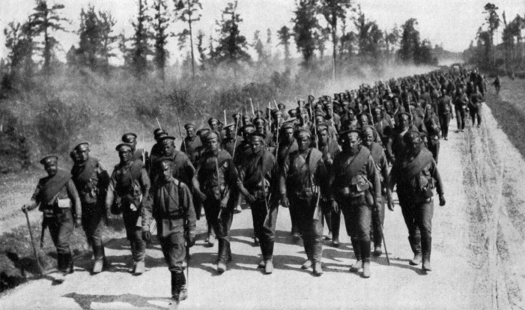 Русские батальоны на марше