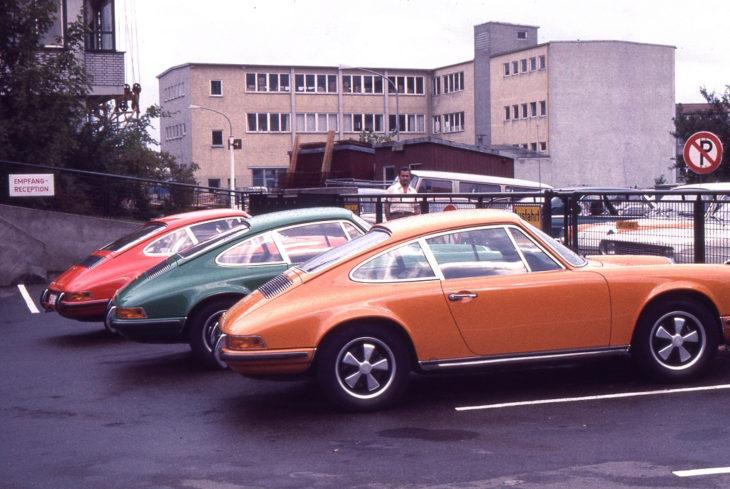 Porsche 911s ждут новых владельцев, 1970 год.