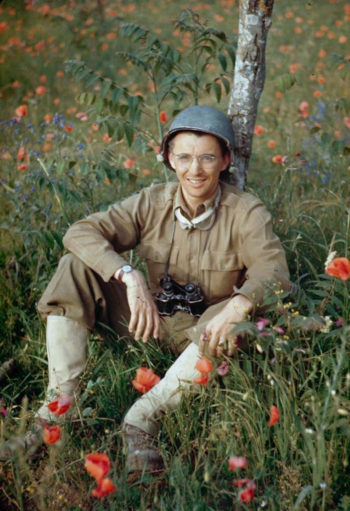 Фотография солдата, долина Рапидо, Итальянская кампания, Вторая мировая война 1944 год.