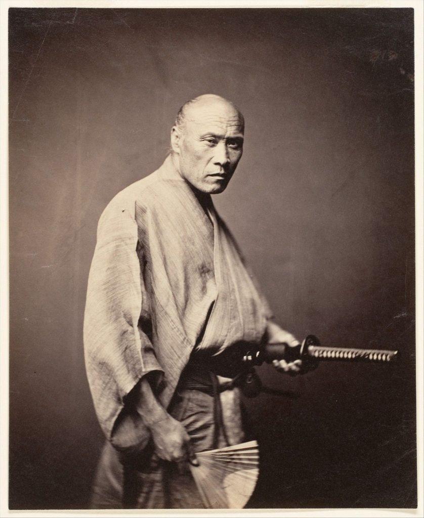 Редкая фотография самурая, 1864-85 гг. Фотограф: Феликс Беато