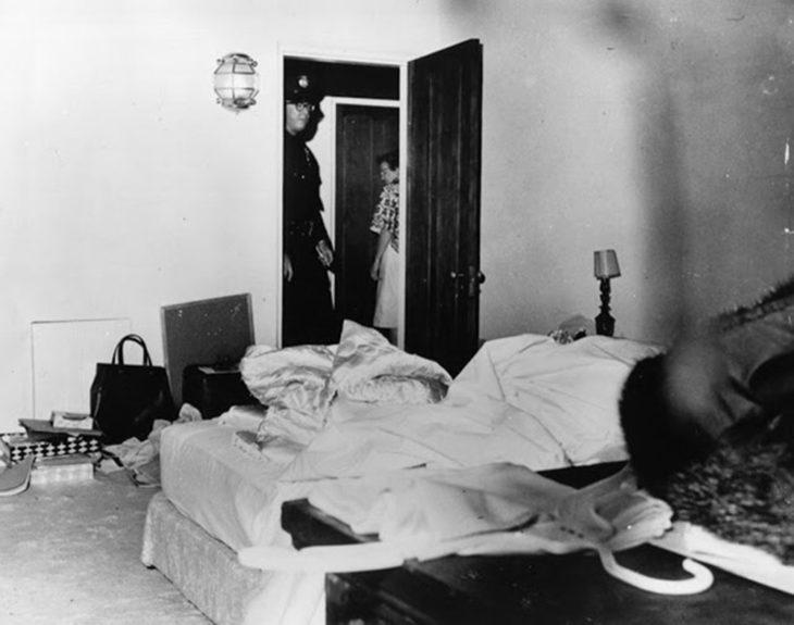 Спальня, в которой Мэрилин Монро была найдена мертвой 6 августа 1962 года.