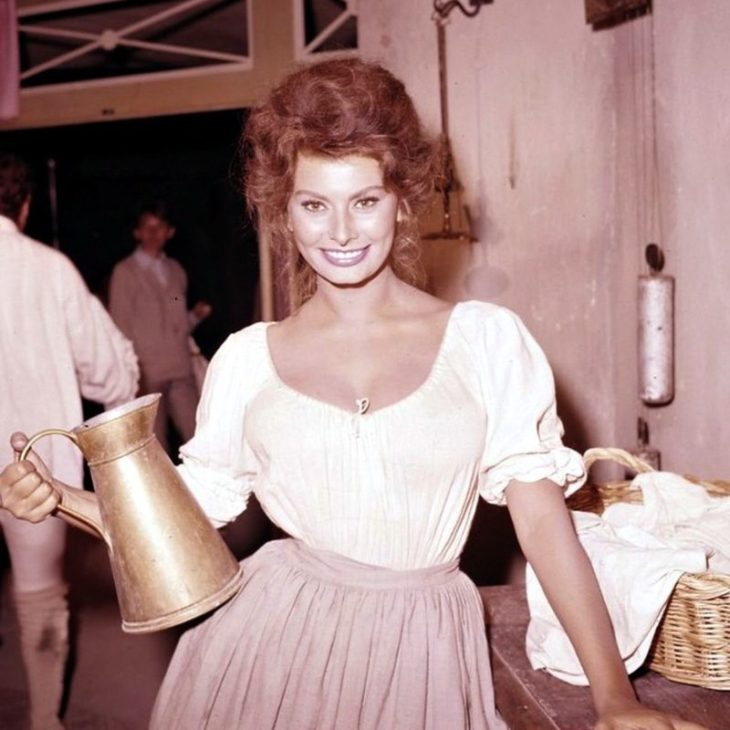 "Софи Лорен на съемках фильма ""Мадам Сан-Жен"", 1961 год."
