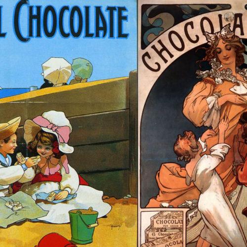 Реклама шоколада в начале 20-го века