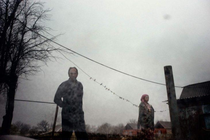 Беженцы в Урус-Мартане, октябрь 2009 года.