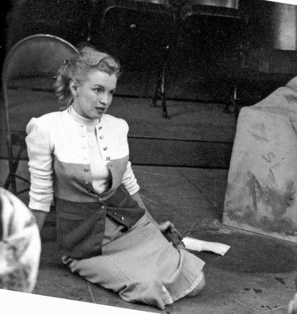 Мэрилин Монро на прослушивании в театре Players Ring, 1950