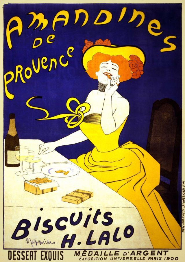 Biscuits H Lalo Amandines de Provence, 1900