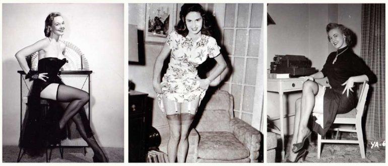 Женщины в чулках, фотографии 1950-х годов