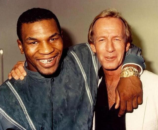 Майк Тайсон и Пол Хоган, 1986 год.