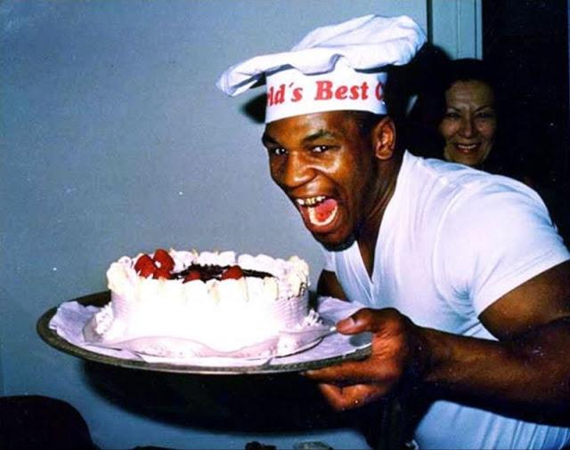 Майк Тайсон празднует свое 20-летие, 1986 год.