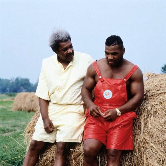 Дон Кинг с Майком Тайсоном, 1989 год.