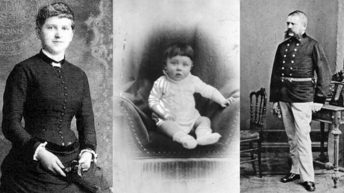 Клара, Адольф, Алоис. Родители Адольфа Гитлера.